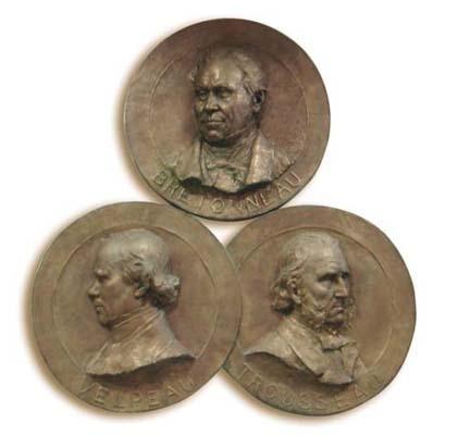 trousseau bretonneau velpeau monument bronze