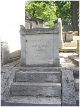 tombe d`Armand Trousseau au père Lachaise (Paris)